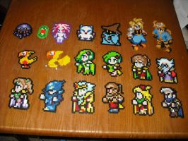 Perler Bead Art- Final Fantasy by Miuki-Salvarus