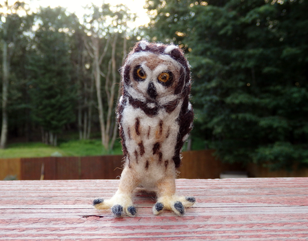 Felted Short-Eared Owl by DancingVulture