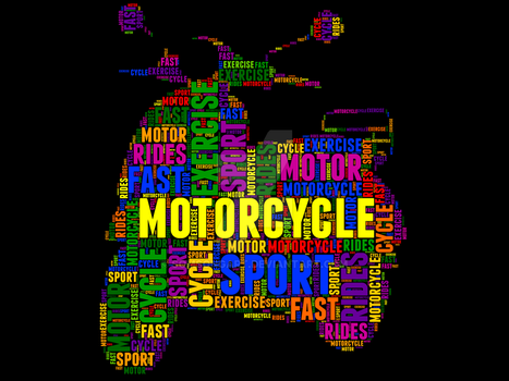 Motorcycle 25 Typography by somsongart