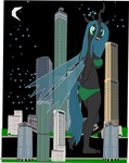 Queen Chrysalis spending the night with King Berry by OceanRailroader