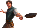 Tangled Flynn Rider with the Frying Pan Happy PNG. by ENT2PRI9SE