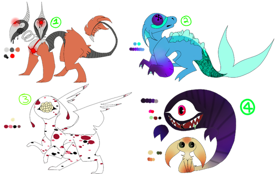 Creature Adopts! *AUCTION* (3/4 OPEN) by UntamedFantasy