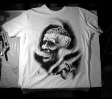 Hand painted T shirt by byfredo