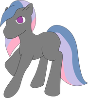 Nameless grey earth pony by CassidyPeterson