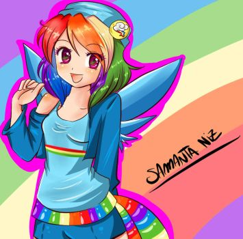Rainbow Dash de My Little Pony by keitenstudio