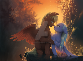 'Lost In Your Eyes' - A Waterfall Romance by TheNeoStrike