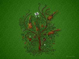 Orchestra Green by vladstudio