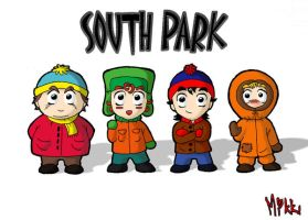 South Park - The four by MagicMikki