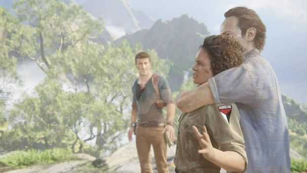Uncharted four - Nate Sam and Tanja by JillSparda1985