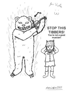 LoL: Tibbers plays the Viola by VermilionEclipse