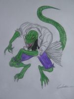 'Lizard' (from Spider-Man) colour sketch by Georgek117