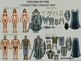 The King of fire - characters by rainerpetterart