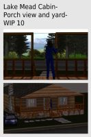 Lake Mead Cabin- Porch view and yard- WIP 10 by mdbruffy