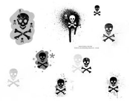 Skull brush stamps by akaleez88