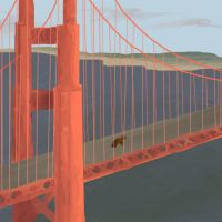 Golden Gate Bridge by DragonarySilver