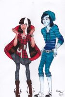 Cerise and Invisi Billy by Stephaven