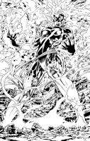 Miss Marvel Inks - Pencil by Mike Deodato by GlauberMatos