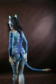 Becca Blue Cat Commission 007 by marshon