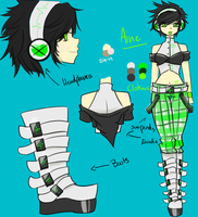 Aine Character sheet by Otakucouture
