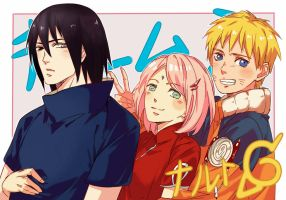 Naruto - Team 7 by i-Shinnie