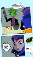 BB annoys Raven by ayeshoo123 by teentitans