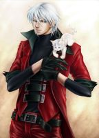 Dante and kitten by sandersonia