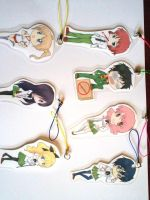 Katawa shoujo keychains by I-am-Miss-Duckie