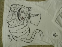 Cheshire Cat Shirt Design by tiger1526