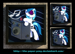 Vinyl Scratch and Bass Cannon by The-Paper-Pony