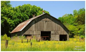 A Tennessee Barn In The Spring Time. by TheMan268
