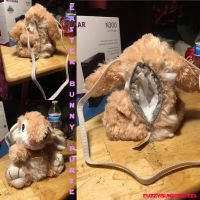 (Altered Stuffed animal) Little Easter Bunny Purse by Grizzled-Dog