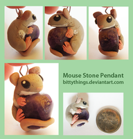 Mouse Stone Pendant - SOLD by Bittythings