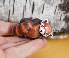 Red panda with red aventurine stone by lifedancecreations