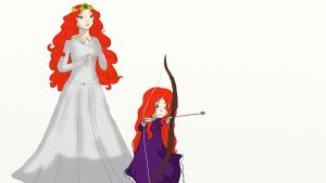 Merida and her Daughter by kayame-san