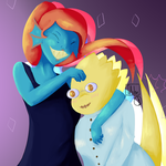 alphyne collab with TrashcanAlphys by lisianthus-rose