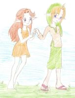 Contest Entry- Malon and Link by StalkerMunkie