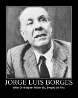 Jorge Luis Borges by paxtofettel