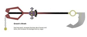 Greed's Wrath - Keyblade by flarinite