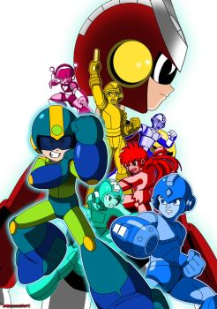 Megaman Xover colour saturation by Gauntlet101010