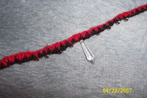 Black and Red zigzag choker by angelcollina