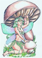 Jule Under a Mushroom by sharem