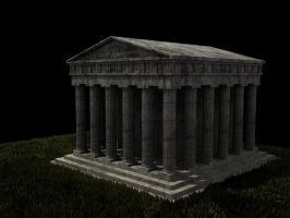 Ancient Greek temple by Lordnarunh