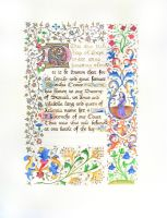 Sorcha Crowe's Court Baronage - SCA Scroll by Ismey-the-Nimble