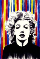 Marilyn Monroe poster study by AndreaSchepisi