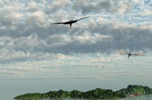 landscape with pterosaurs by dreamwalker001a