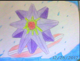 Commission: Starmie Drawing by LemonLil
