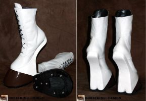 White Draft Horse boots by HORSEKING