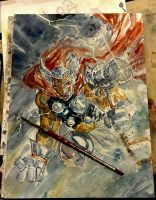 Beta Ray Bill Watercolor Commission by dreamflux1