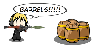 Walfas - Pewdiepie vs Barrels!!! by grayfox5000
