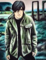 Trent Reznor 2- colored pencil by SnowyBunny16